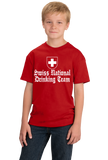 Youth Red Swiss National Drinking Team - Switzerland Soccer Football Fan T-shirt