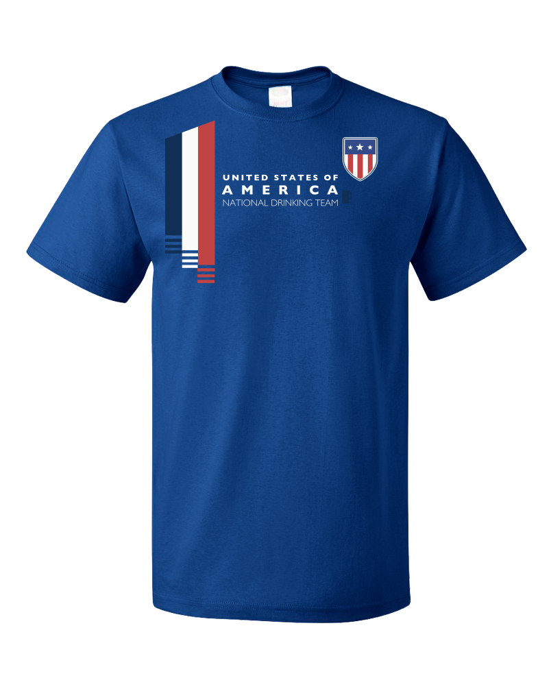 Usa National Drinking Team - American Soccer Football Fan T-shirt ...