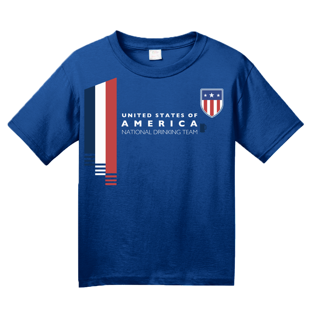 a1b2cefd5 ... Youth Royal Usa National Drinking Team - American Soccer Football Fan T- shirt ...