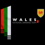 Wales National Drinking Team Black art preview
