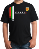 Youth Black Wales National Drinking Team - Welsh Soccer Football Fan Pub T-shirt