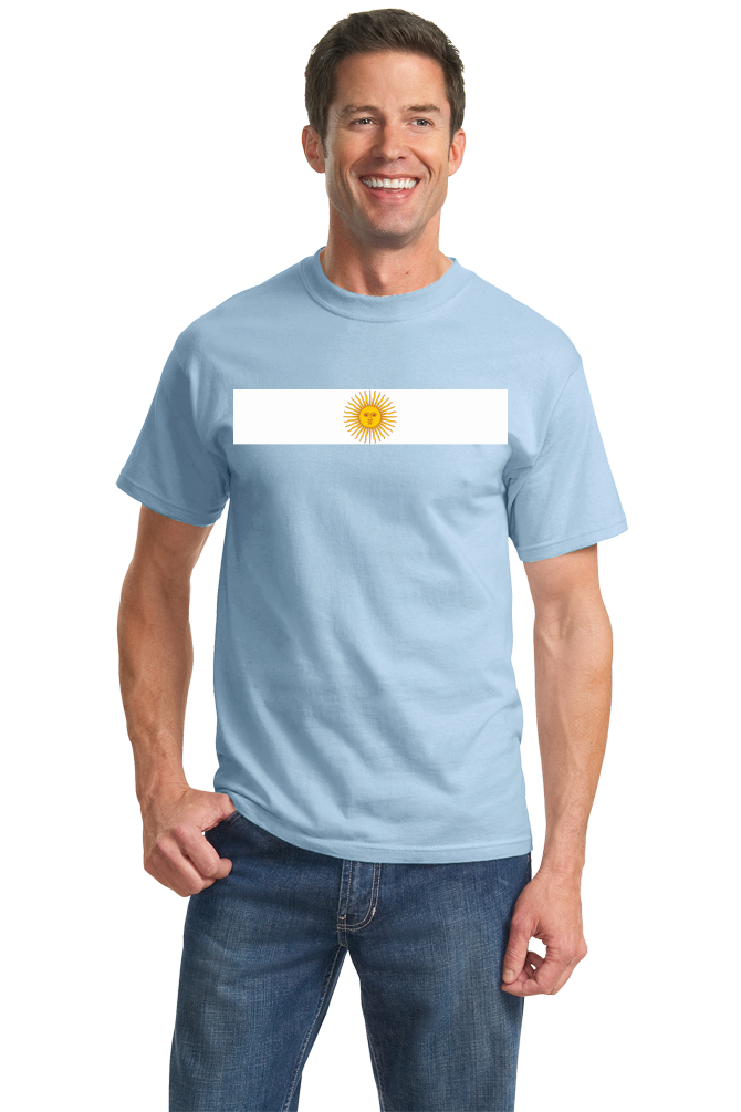 Standard Light Blue Argentina National Flag - Argentinian Argentine Pride Heritage T-shirt