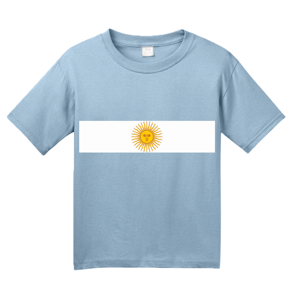 Youth Light Blue Argentina National Flag - Argentinian Argentine Pride Heritage T-shirt