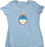 Ladies Light Blue Argentina Coat of Arms - Argentine Pride Tango Heritage Love T-shirt