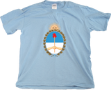 Youth Light Blue Argentina Coat of Arms - Argentine Pride Tango Heritage Love T-shirt