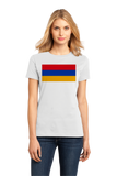 Ladies White Armenia Flag - Armenian Heritage Pride Ancestry Love Gift T-shirt