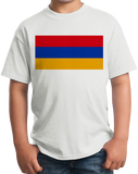 Youth White Armenia Flag - Armenian Heritage Pride Ancestry Love Gift T-shirt