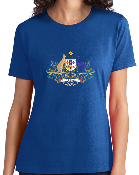 Ladies Royal Australian Coat Of Arms - Australia Aussie Pride Heritage Love T-shirt