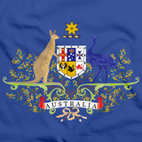 AUSTRALIAN COAT OF ARMS Royal Blue art preview