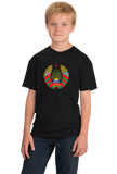 Youth Black Belarus National Emblem - Belarus Belarusian Pride Heritage T-shirt