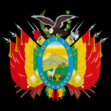 BOLIVIAN COAT OF ARMS Black art preview