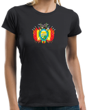 Ladies Black Bolivian Coat Of Arms - Bolivia Pride Heritage Love Ancestry T-shirt