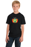 Youth Black Bolivian Coat Of Arms - Bolivia Pride Heritage Love Ancestry T-shirt