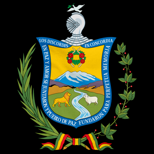 LA PAZ COAT OF ARMS Black art preview