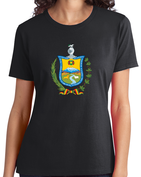 Ladies Black La Paz Coat Of Arms - Bolivia Bolivian Pride Heritage Love T-shirt