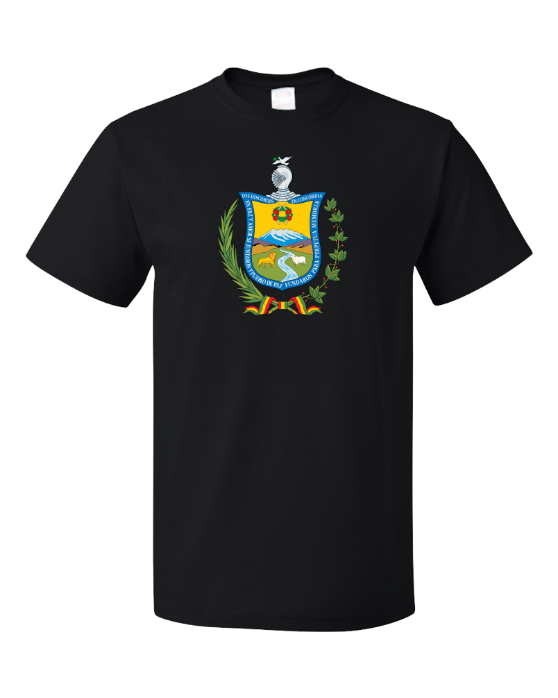 Standard Black La Paz Coat Of Arms - Bolivia Bolivian Pride Heritage Love T-shirt