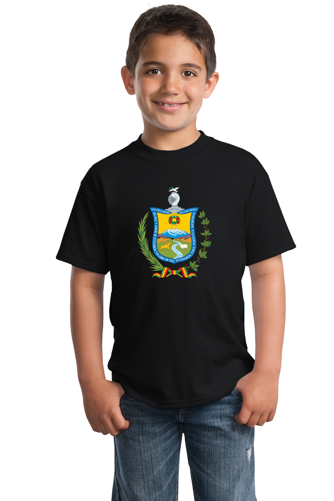 Youth Black La Paz Coat Of Arms - Bolivia Bolivian Pride Heritage Love T-shirt