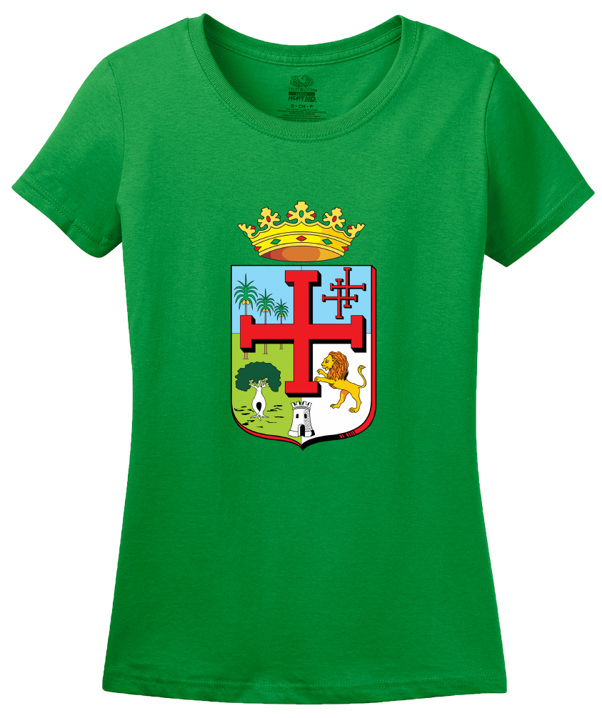 Ladies Green Santa Cruz De La Sierra Coat Of Arms - Bolivia Pride Heritage T-shirt