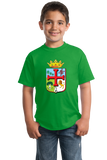 Youth Green Santa Cruz De La Sierra Coat Of Arms - Bolivia Pride Heritage T-shirt