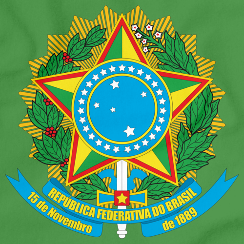 BRAZIL COAT OF ARMS Green art preview