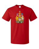 Standard Red Canadian National Coat Of Arms - Canada Pride Flag Love T-shirt
