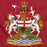 MANITOBA PROVINCIAL COAT OF ARMS Red art preview
