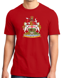 Standard Red Manitoba Provincial Coat Of Arms - Winnipeg Mantinoban Pride T-shirt