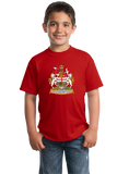 Youth Red Manitoba Provincial Coat Of Arms - Winnipeg Mantinoban Pride T-shirt