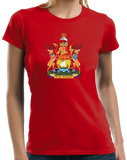 Ladies Red New Brunswick Provincial Coat Of Arms - Canada Nouveau-Brunswick T-shirt