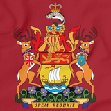 NEW BRUNSWICK PROVINCIAL COAT OF ARMS Red art preview