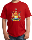 Youth Red New Brunswick Provincial Coat Of Arms - Canada Nouveau-Brunswick T-shirt