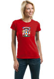 Ladies Red Nova Scotia Provincial Coat Of Arms - Canada Halifax Pride T-shirt