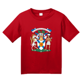 Youth Red Nova Scotia Provincial Coat Of Arms - Canada Halifax Pride T-shirt