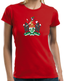 Ladies Red Prince Edward Island Province Coat Of Arms - PEI Canada Love T-shirt