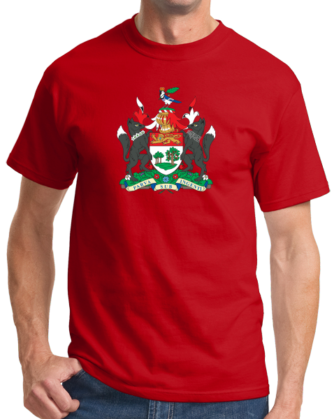 Standard Red Prince Edward Island Province Coat Of Arms - PEI Canada Love T-shirt