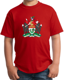 Youth Red Prince Edward Island Province Coat Of Arms - PEI Canada Love T-shirt