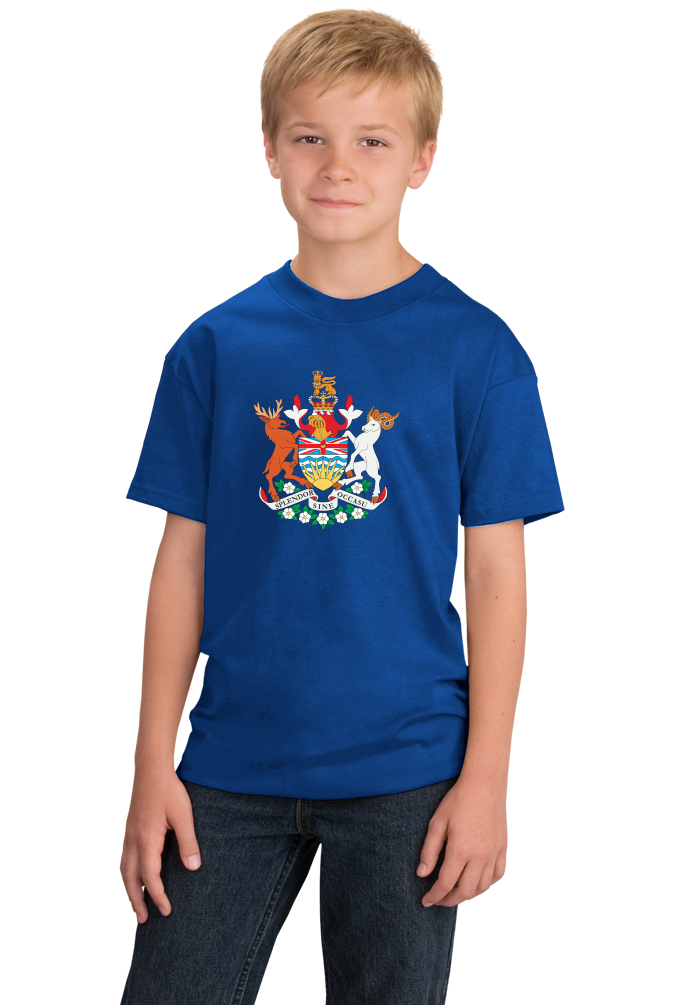 Youth Royal British Columbia Coat of Arms- Victoria Canada Vancouver Pride T-shirt