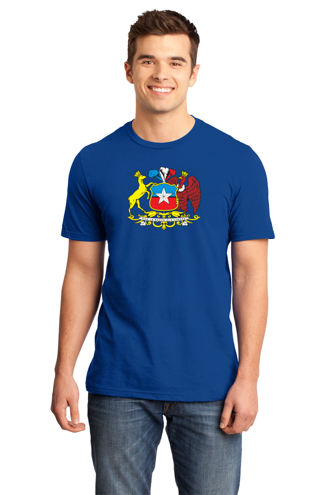 Standard Royal Chile Coat Of Arms - Flag Heritage Ancestry Pride Chilean T-shirt