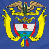 COLOMBIA COAT OF ARMS Royal Blue art preview