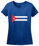 Ladies Royal Cuban National Flag - Cuba Fidel Castro Pride Heritage Love T-shirt