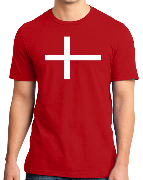Standard Red Denmark National Flag - Danish Pride Heritage Copenhagen T-shirt
