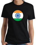 Ladies Black Indian Flag - India Pride Heritage Love Hindi Mumbai New Delhi T-shirt