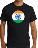 Standard Black Indian Flag - India Pride Heritage Love Hindi Mumbai New Delhi T-shirt
