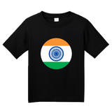 Youth Black Indian Flag - India Pride Heritage Love Hindi Mumbai New Delhi T-shirt