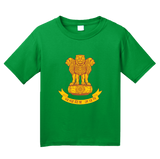 Youth Green Indian National Emblem - India Heritage Pride Ashoka Lion T-shirt