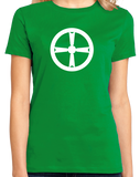 Ladies Green Akita City, Tohoku Flag - Japan Japanese Nippon Heritage Pride T T-shirt