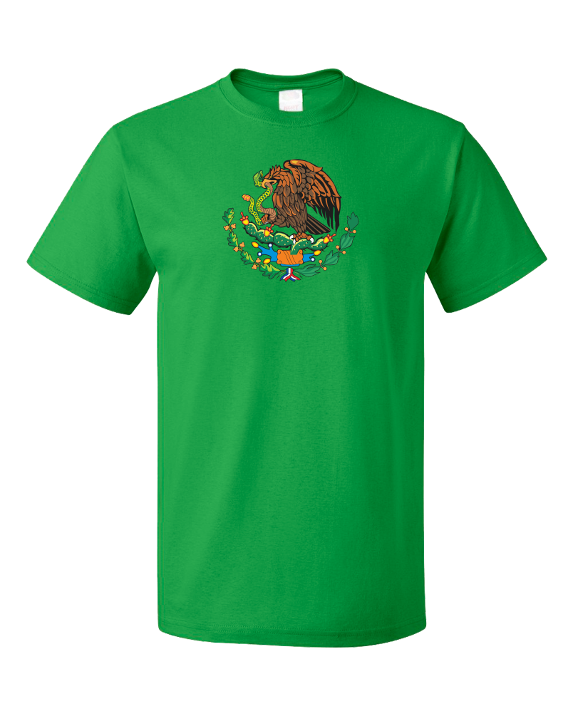 Standard Green Mexican Coat Of Arms - Mexico Pride Tenochtitlan Aztec T-shirt