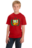 Youth Red Peruvian Coat Of Arms Flag - Peru Pride Love Cusco Heritage T-shirt