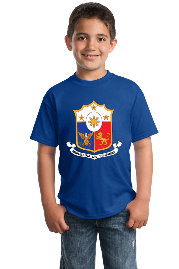 Youth Royal Philippines Coat Of Arms - Filipino Pride Heritage Love Flag T-shirt