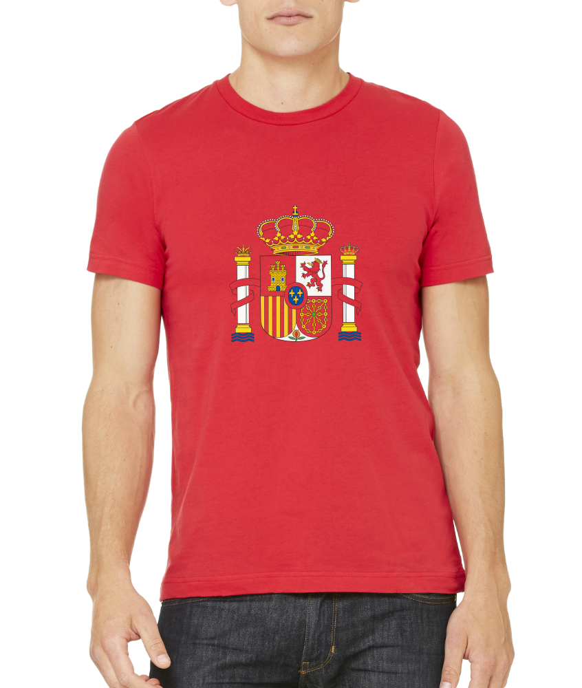 Standard Red Spanish Coat Of Arms - Spain Heritage Pride Love Flag T-shirt